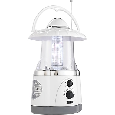 LED Lantern with Radio and Flashlight