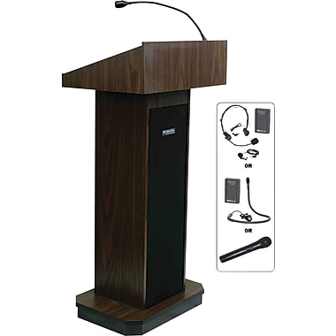 AmpliVox Sound Systems Executive Sound Lectern, Walnut (SW505-WT)