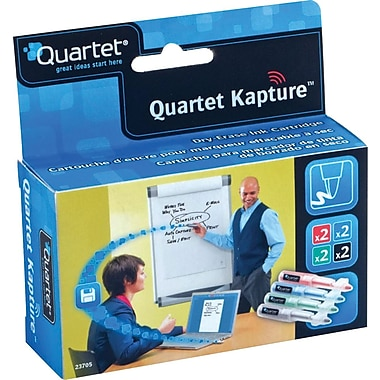 Quartet® Kapture™ Digital Flip Chart System Refill Cartridges, Assorted, 8/Pack