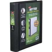 1 Staples® Better® 5-1/2 x 8-1/2 Mini View Binder with D-Rings, Black
