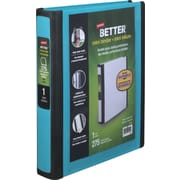 Staples Better Mini 1-Inch D 3-Ring View Binders, Teal (20948)