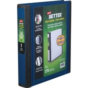 1 Staples® Better® 5-1/2 x 8-1/2 Mini View Binder with D-Rings, Blue