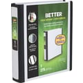 1in. Staples® Better® 5-1/2in. x 8-1/2in. Mini View Binder with D-Rings, White