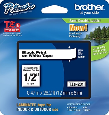 Brother TZe 231 1 2 P Touch Label Tape Black on White
