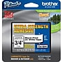 Brother® TZe-S241 P-Touch® Label Tape, 3/4 Black on