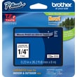 "Brother® TZe-111 P-Touch® Label Tape, 1/4"" Black on Clear"