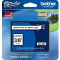Brother® TZe-221 P-Touch® Label Tape, 3/8in. Black on White