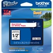 Brother® TZe-232 P-Touch® Label Tape, 1/2in. Red on White
