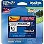 Brother® TZe-2312PK P-Touch® Label Tape, 1/2 Black on