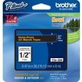 Brother® TZe-334 P-Touch® Label Tape, 1/2in. Gold on Black