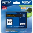 "Brother® TZe-334 P-Touch® Label Tape, 1/2"" Gold on Black"