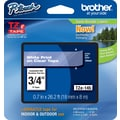 Brother® Tze-145 P-Touch® Label Tape, 3/4in. White on Clear