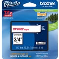 Brother TZe-242 P-Touch Label Tape, 3/4in. Red on White