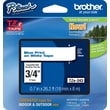 "Brother® TZe-243 P-Touch® Label Tape, 3/4"" Blue on White"