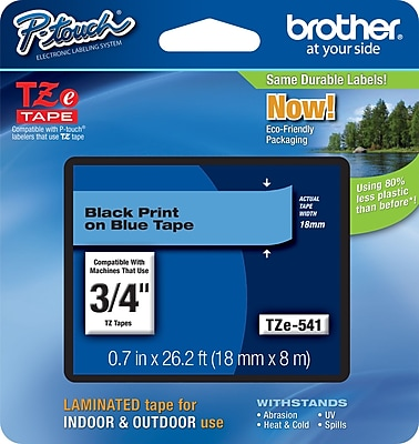 Brother TZe 541 3 4 P Touch Label Tape Black on Blue