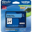 Brother TZe-541 P-Touch Label Tape,  3/4in. Black on Blue