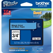 Brother® TZe-541 P-Touch® Label Tape,  3/4 Black on Blue