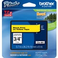 Brother® TZe-641 P-Touch® Label Tape, 3/4in. Black on Yellow
