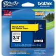 "Brother® TZe-641 P-Touch® Label Tape, 3/4"" Black on Yellow"
