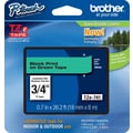 Brother® TZe-741 P-Touch® Label Tape, 3/4in. Black on Green