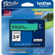 "Brother® TZe-741 P-Touch® Label Tape, 3/4"" Black on Green"