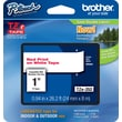 Brother TZe-252 P-Touch Label Tape, 1in. Red on White