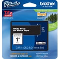 Brother TZe-355 P-Touch Label Tape, 1in. White on Black