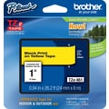 Brother TZe-651 P-Touch Label Tape,  1in. Black on Yellow