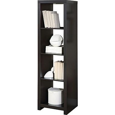 Monarch Specialties Hollow-Core Room Divider Bookcase, Cappuccino