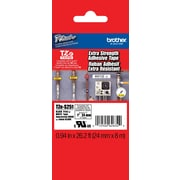 "Brother TZe-S251 1"" P-Touch Label Tapes Black on White with Extra Strength Adhesive"