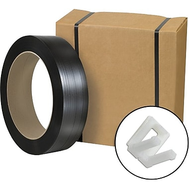 Staples® Postal-Approved Poly Strapping Kit, 1/2in. x 9,000', 1 Kit