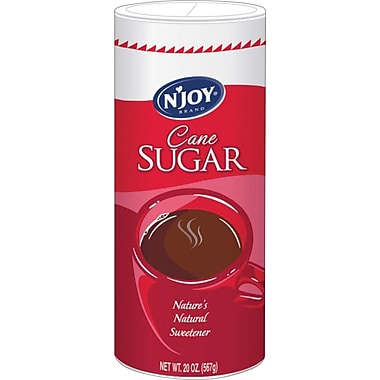 'N Joy Pure Cane Sugar, 20 oz. Canister