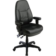 Office Star™ Dual Function Ergonomic High-Back Leather Manager's Chair, Black