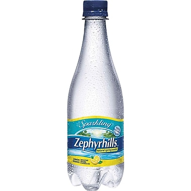 Zephyrhills Lemon Flavored Sparkling Bottled Water, 16.9 oz. Bottles, 24/Case