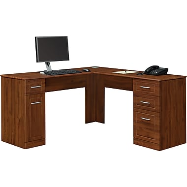 Altra™ Chadwick Collection L Desk, Virginia Cherry