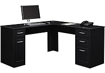 Altra™ Chadwick Collection L Desk, Nightingale Black