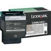 Lexmark™ – Cartouche de toner noir C546U1KG, programme de retour, très haut rendement