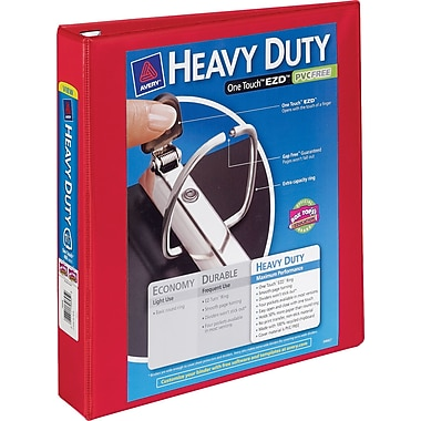 4in. Avery® Heavy-Duty View Binders with One Touch™ EZD® Rings,Red