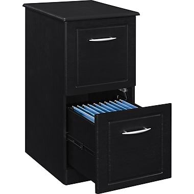 Altra™ Chadwick Collection 2-Drawer Vertical File, Nightingale Black