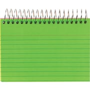 """Staples® 3"""" x 5"""" Ruled Neon Spiral-Bound Index Cards, 2/Pack"""