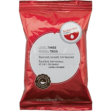 Seattle's Best® Level 3 Ground Coffee, Regular, 2 oz., 18 Packets