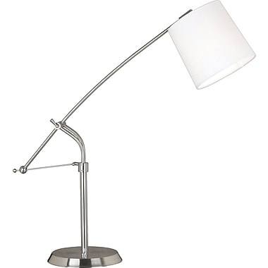 Kenroy Home Reeler Adjustable Table Lamp, Brushed Steel Finish