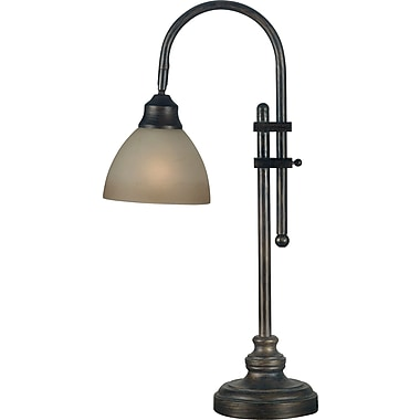 Kenroy Home Callahan Desk Lamp, Bronze Heritage Finish