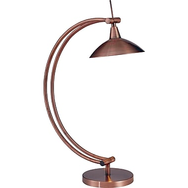 Kenroy Adrian Halogen Desk Lamp, Vintage Copper