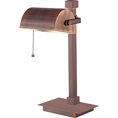 Kenroy Welker Incandescent Desk Lamp, Vintage Copper