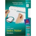Avery® Memo-Size Index Maker Tabs for Laser & Inkjet Printers, 5 1/2in. x 8 1/2in.