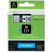 "DYMO® D1 Label Tape, 19mm (3/4"") Black on White"