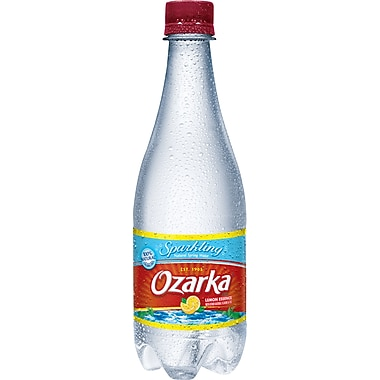 Ozarka Lemon Flavored Sparkling Water, 16.9 oz. Bottles, 24 /Case