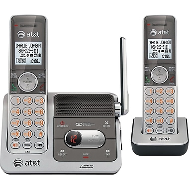AT&T CL82201 DECT 6.0 Cordless Telephone with Talking Caller ID and Digital Answering System