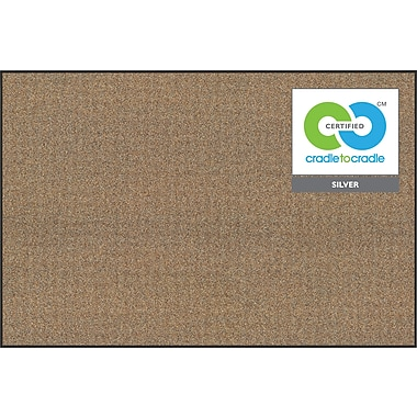 Best-Rite® 4' X 4' Ultra Trim Black Splash Cork Bulletin Board
